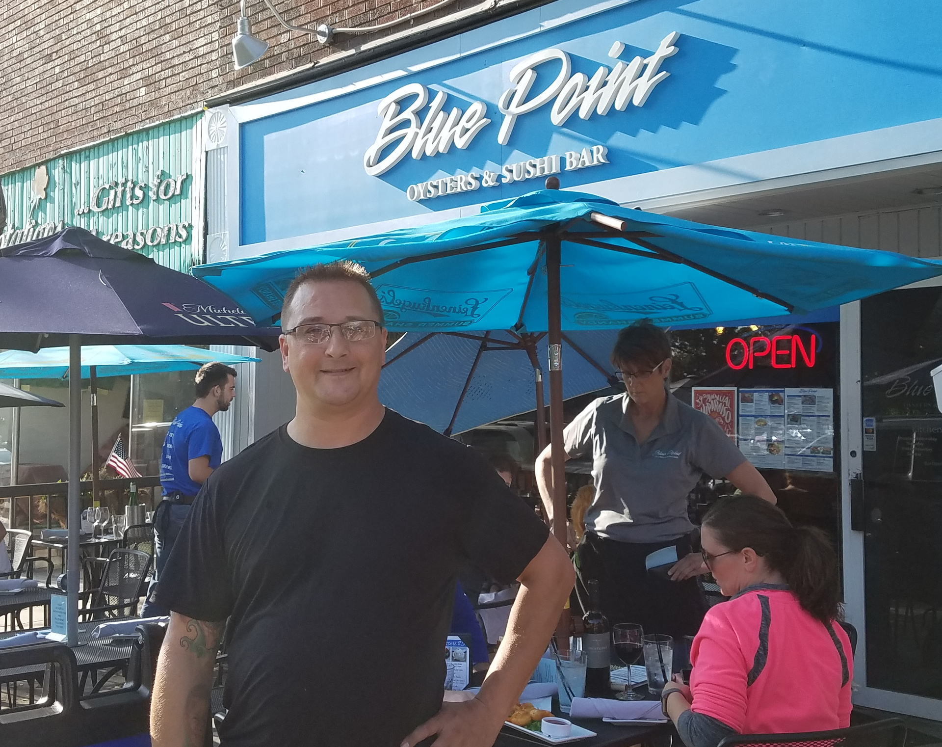 Eddie at Blue Point knows what Valpo wants and chose his location for its great outdoor dining.