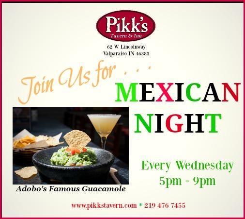 Pikk's announces Mexican night