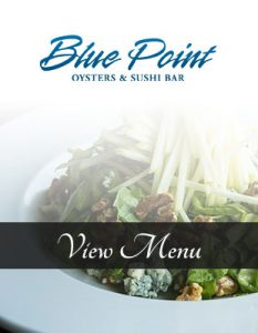 Blue points outdoor dining menu is remarkable on a summer night