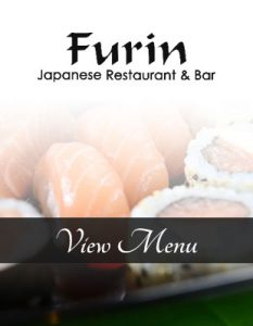 Sit back and enjoy the Furin Japanese menu on a summer day-outdoor dining with Japanese fun.
