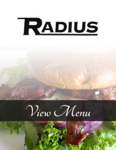 Radius menu is a popular choice for fans of outdoor dining. The cocktails are perfect for alfresco fun.