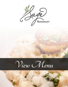 sage outdoor menu