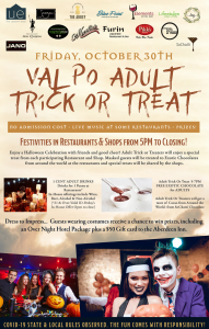 Everyone agreed that the Valpo Restaurants' Adult Trick-or-Treat was a huge success!